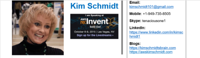 Kim Schmidt's September, 2016 Resume