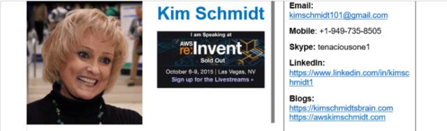 Kim Schmidt's September, 2016 Resume