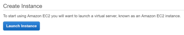 "The ""Blue Launch"" Button to Launch an Amazon EC2 Instance"
