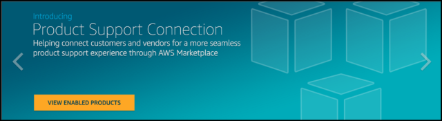 Screenshot of AWS Marketplace Product Support Connection