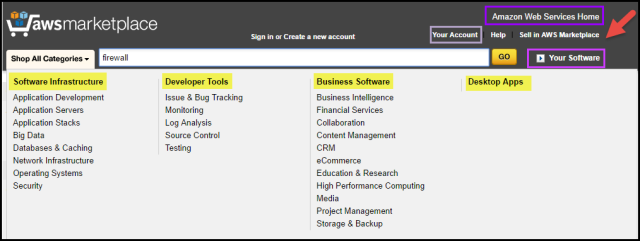 "Screenshot from ""Firewall Search"" to ""Shop All Categories"""