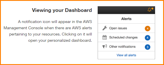 Viewing Your AWS Personal Health Dashboard