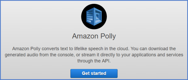 AWS Polly Get Started