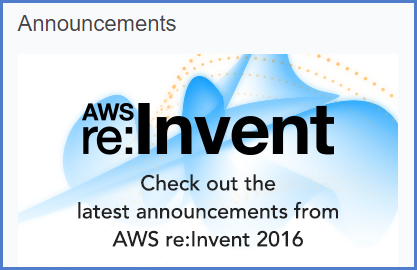 AWS re:Invent 2016 Product Announcements ala Kim
