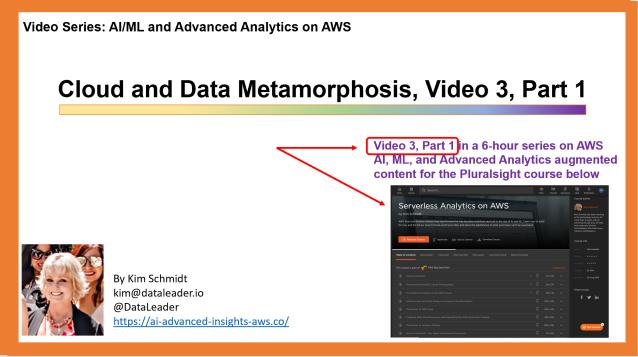 Cloud & Data Metamorphosis, Video 3, Part 1