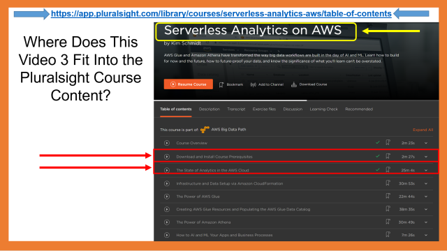Optimal Time to Watch This Video 3 with the Pluralsight Course