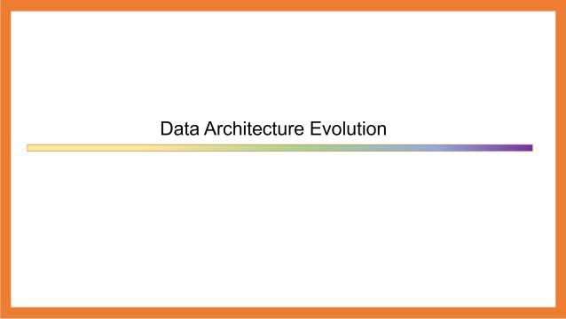 Data Architecture Evolution