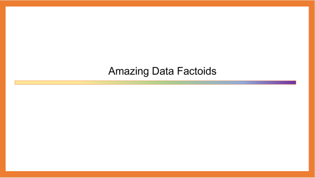 Amazing Data Factoids